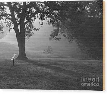 Shiloh In The Fog Wood Print by David Bearden