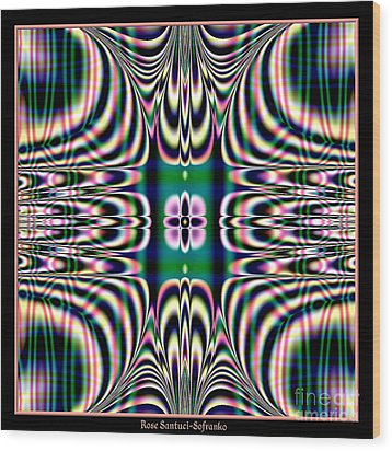 Shimmering Plaid Fractal 66 Wood Print by Rose Santuci-Sofranko
