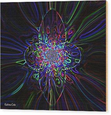 Shining Star Wood Print by Katina Cote