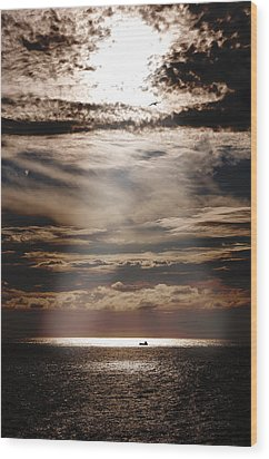 Ship  Wood Print by Micael  Carlsson