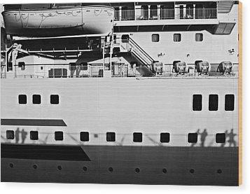 Ship Watching Wood Print by Dean Harte