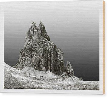 Shiprock Mountain Four Corners Wood Print by Jack Pumphrey