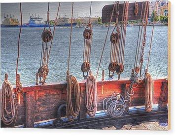 Shipshape Wood Print by Barry R Jones Jr