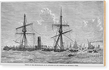Shipwrecks, 1875 Wood Print by Granger