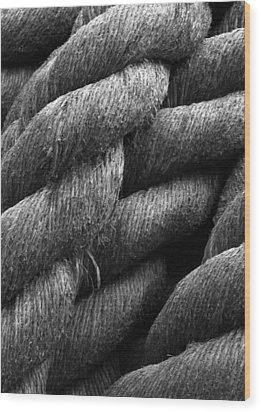 Shipyard Braid Wood Print by Calvin Wray