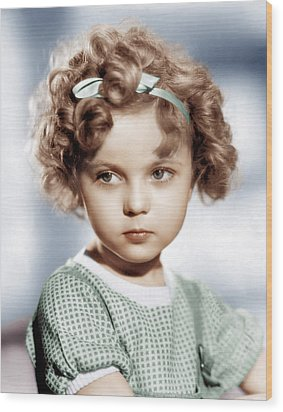 Shirley Temple, Ca. 1934 Wood Print by Everett