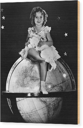 Shirley Temple, Fox Film Portrait, Ca Wood Print by Everett
