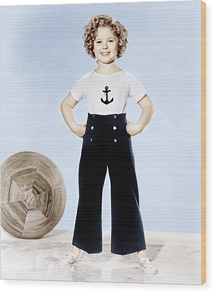 Shirley Temple, Studio Portrait, Ca Wood Print by Everett