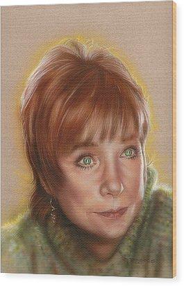 Shirley Wood Print by Timothy Scoggins
