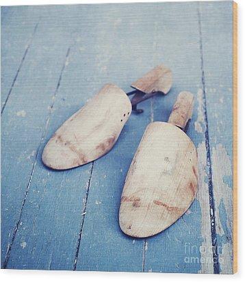 shoe trees II Wood Print by Priska Wettstein