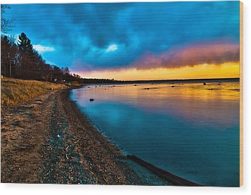 Shoreline Wood Print by Jason Naudi Photography