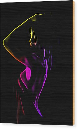 Shower Girl Wood Print by Steve K