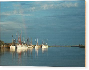 Shrimp Boats In Darien 2 Wood Print