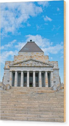 Shrine Of Rememberence Wood Print by Paul Donohoe