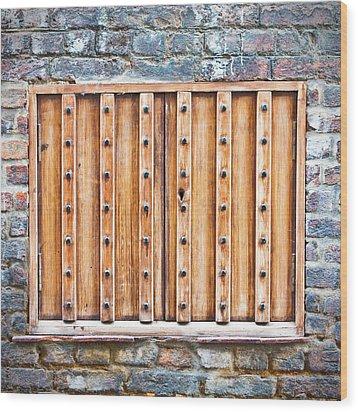 Shutters Wood Print by Tom Gowanlock