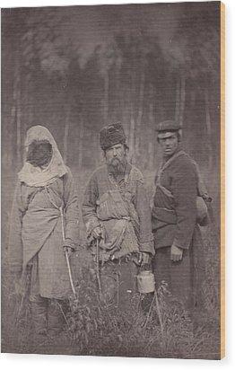 Siberia, Three Escaped Convicts Wood Print by Everett