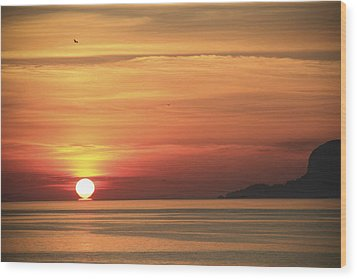 Sicilian Sunrise Wood Print