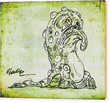 Sick Monster  Wood Print