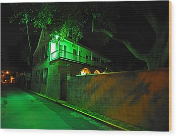 Side Street Wood Print by Peter  McIntosh