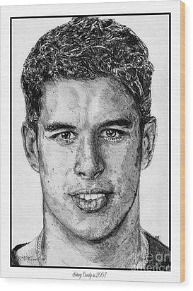 Sidney Crosby In 2007 Wood Print by J McCombie