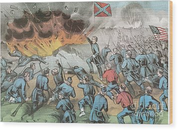 Siege And Capture Of Vicksburg, 1863 Wood Print by Photo Researchers