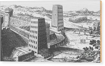 Siege Of Jerusalem 1229 Wood Print by Photo Researchers