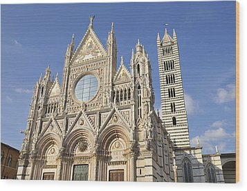 Siena Cathedral - Duomo Santa Maria Assunta Wood Print by Matthias Hauser