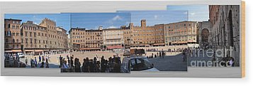Siena Italy - Piazza Del Campo Wood Print by Gregory Dyer