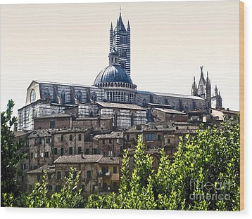 Siena Italy - Siena Cathedral -02 Wood Print by Gregory Dyer