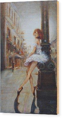 Sienna Wood Print by Caroline Anne Du Toit