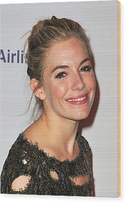 Sienna Miller In Attendance For After Wood Print by Everett