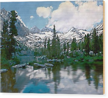 Sierra Wood Print by Kurt Van Wagner