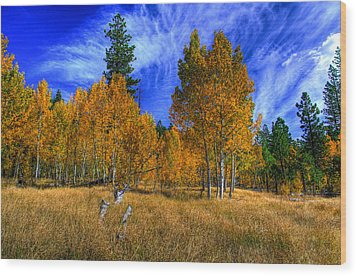 Sierra Nevada Fall Colors Lake Tahoe Wood Print by Scott McGuire