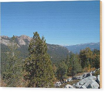 Sierra Nevada Mountains 2 Wood Print by Naxart Studio