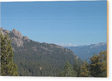 Sierra Nevada Mountains 3 Wood Print by Naxart Studio
