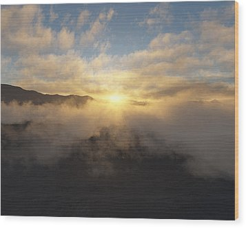 Sierra Sunrise Wood Print by Mark Greenberg