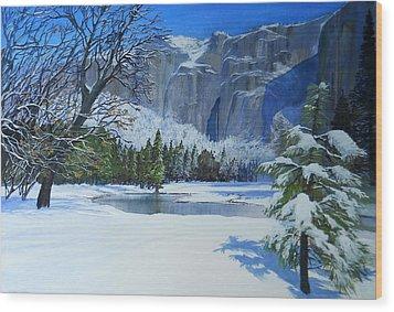 Sierra Winter Wood Print by Robert Duvall