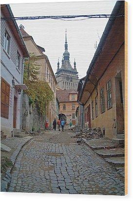 Sighisoara Citadel Romania Wood Print by Mircea Veleanu