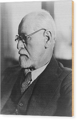 Sigmund Freud 1856-1939, In The 1930s Wood Print by Everett