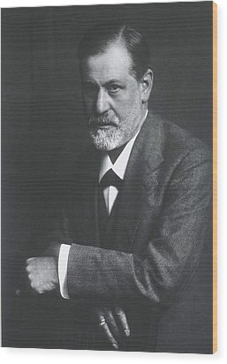 Sigmund Freud 1856-1939, With Arms Wood Print by Everett