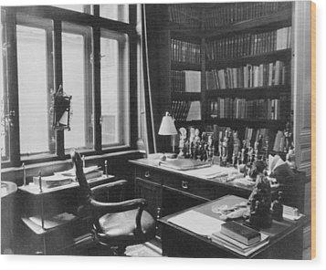 Sigmund Freuds Writing Desk Wood Print by Everett