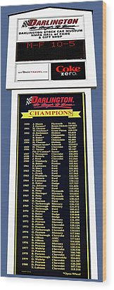 Sign Of Champions Wood Print by DigiArt Diaries by Vicky B Fuller