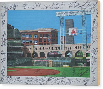 Signed Minute Maid Wood Print by Leo Artist