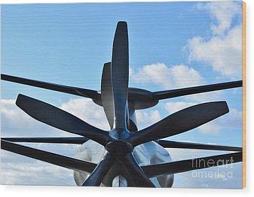 Sikorsky X2 Demonstrator Model Wood Print by Lynda Dawson-Youngclaus