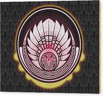 Silbury Hill Crop Circle Wood Print by Raul Castellar