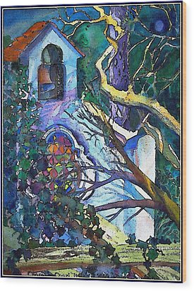 Silence At St. Michel Chapel In Capri Italy Wood Print by Mindy Newman