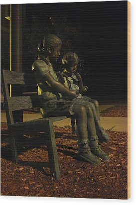 Silent Children Wood Print by Guy Ricketts