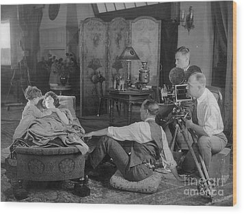 Silent Film Set, 1920s Wood Print by Granger