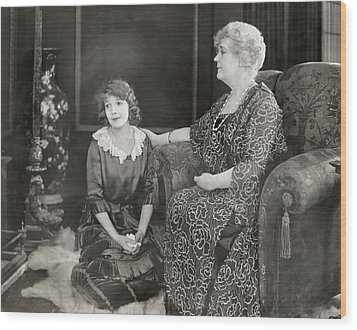 Silent Film Still: Women Wood Print by Granger
