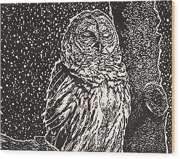 Silent Frozen Exhale Wood Print by Julia Forsyth